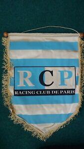FANION    FOOTBALL   GRAND   FORMAT  /    R. C. P.   /  RACING  CLUB   DE  PARIS