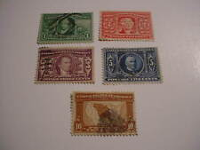 1904 Louisiana Purchase Expo Issue, #323-327 (5) used stamp SET