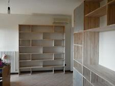 mobile tv e libreria per soggiorno in faggio grezzo usato