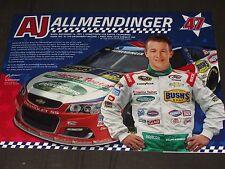 2016 AJ ALLMENDINGER #47 HARRIS TEETER NASCAR POSTCARD