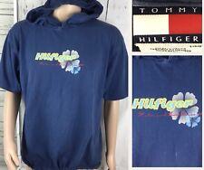 Vintage Tommy Hilfiger Hoodie Sweatshirt Retro 90s Short Sleeve Water & Surf L