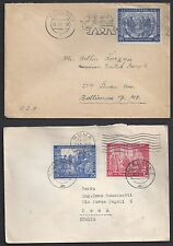 GERMANY 1949 SIX LEIPZIG EXOSITION COVER ALL WITH W/DIFFERENT CANCELS & DESTINAT