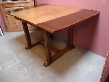 ANTIQUE ART DECO SOLID OAK 1950's DINING TABLE with PULL-OUT LEAVES