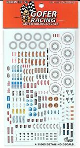 GOFER Racing Under the Hood Details, AC Vents, Radio Faces, Decals 1/24-25 11065
