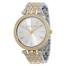 MICHAEL KORS NEW MK3215 Darci Silver Dial Two Tone Ladies Wrist Watch