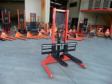 Pallet Stacker, Manual pump,1000kg/1.6m, Wide Hydraulic Lifter, Our Factory !