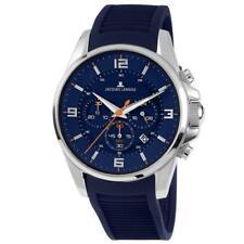 Jacques Lemans Men's Liverpool 44mm Blue Silicone Band Quartz Watch 1-1799C