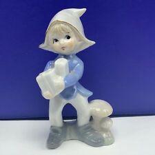 Porcelain pixie elf figurine statue sculpture christmas present gift mushroom