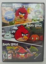 Angry Birds 3 in 1 PC Game Windows 10 8 7 XP Computer Games Seasons Space Sealed