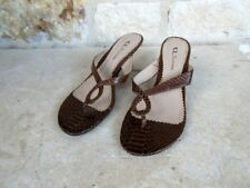 CL by Laundry Women's Brown Faux Snakeskin Thong Sandals Size 9 M