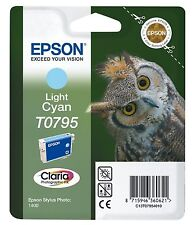 Epson Original T0795 Light Cyan Ink cartrdge for Stylus Photo 1400 (Owl) Epsom