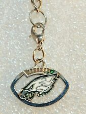 NFL Philadelphia Eagles Football Purse Charm Zipper Pull Key Chain Jewelry