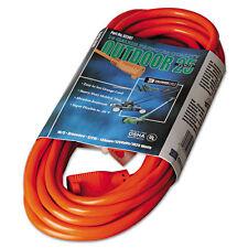 """Vinyl Outdoor Extension Cord, 25ft, 13 Amp, Orange"""