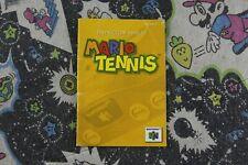 Mario Tennis - Nintendo 64 - Manual Only