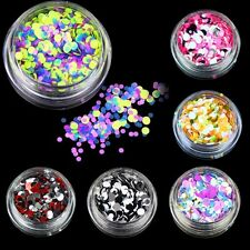 mini DOTS PAILLETTES per NAIL ART 1mm 2mm 3mm colorate GLITTER SEQUINS unghie