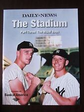 "Mantle & Maris on Cover of 2008 NY Daily News Magazine NY Yankees ""The Stadium"""