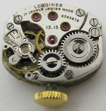 Watch movement for parts . Lady Longines 13.15 manual wind
