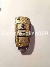 Carbonio Oro Pellicola Decorazione Chiave Audi TT A1 8J A6 A3 8p A4 4F S3 S4 B7
