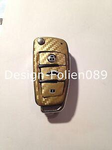 Carbon Gold  Folie Dekor Schlüssel Audi TT A1 8J A6 A3 8p A4 4F S3 S4 B7 Q7 RS