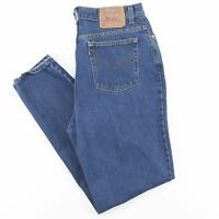 Vintage LEVI'S 550 Blue Denim Relaxed Tapered Jeans Womens W32 L32