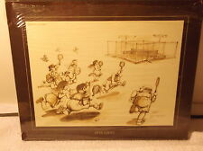 Gary Patterson Tennis Print Thought Factory Open Court Plate #767 Vintage 1980
