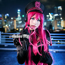 100CM Anime VOCALOID LUKA Long Magenta Straight Women Party Cosplay Hair Wig