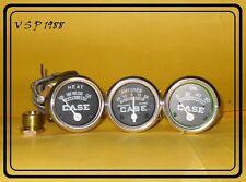 Case Tractors C,D,DI,DO,L,LA,LAI,RC,S,SC,SI,SO,400,600 Temp + Oil +Amp Gauge Set