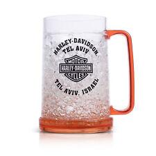 Harley-Davidson Plastic Glass Stein Of Beer, Orange Color P/N B.FMCUS0238