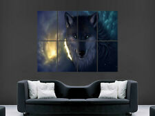SCARY WOLF BLOOD WILD POSTER PRINT LARGE GIANT IMAGE HUGE ART FANTASY