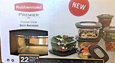 Rubbermaid Premier 22 Piece Storage Container Set w/ Easy Find Lids - Black