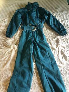 Nils Vintage Retro Ski Suit Teal Sz 10