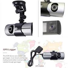 """Dvr coche 1080P Lente Dual Cámara en Tablero ciclo de Video Grabadora Cámara 2.7"""" registrador GPS"""