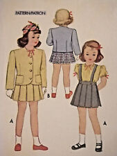 Mc-5908 Vintage 1940s Two-Piece Suit Blouse Sewing Pattern McCall Sz 6 Complete