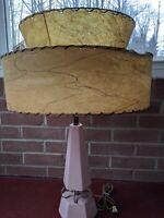 Mid Century Vintage Style 2 Tier Fiberglass Lamp Shade Modern Atomic Retro