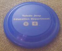 TOLEDO JEEP FACTORY Plastic Frisbee Disc EDUCATION DEPARTMENT Cherokee WRANGLER