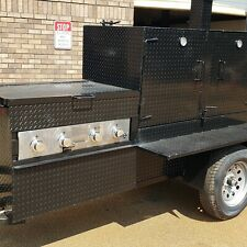4 Burner Griddle Ribmaster 5 Foot Barn Door Smoker Trailer Food Truck Restaurant