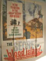 XL Filmplakat ,THE SECRET OF BLOOD ISLAND,JACK HEDLEY,P WYMARK,KRIEGSFILM #18