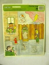 """1988 Golden Frame-Tray Puzzle Sesame Street Numbers (11 1/2"""" x 15 1/2"""")"""