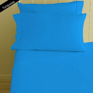 1000 TC Egyptian Cotton 4Pc Sheet Set Extra Deep Pocket US Sizes Turquoise Solid
