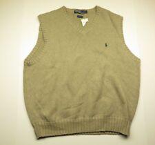 POLO by RALPH LAUREN Knit Sweater Vest Beige Adult Men's Size X-Large NWT