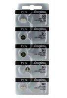 341 Energizer Silver Oxide Watch / Electronic Battery 5 Pcs