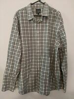 Sportscraft Men's Shirt Size XXL 2XL Regular Fit BLack White Check Long Sleeve