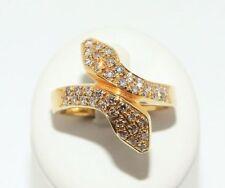 Diamant Echtschmuck-Ringe aus Gelbgold mit VVS Reinheit