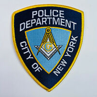 Masons Masonic New York City Police Department NYPD Patch