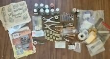 Lot Of Vintage Crafttool Leather Carving Tools and more