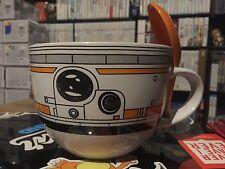 Disney Star Wars The Force Awakens BB-8 Droid Ceramic  Soup Bowl Mug Spoon Bb8