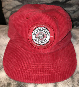 LIMITED EDITION OFFICIAL COOPERS SPARKLING ALE RED CORDUROY SNAPBACK FLATCAP HAT