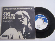 SP 2 TITRES VINYLE 45 T, TEN YEARS AFTER , WOODSTOCK IM GOING HOME . VG - / VG +