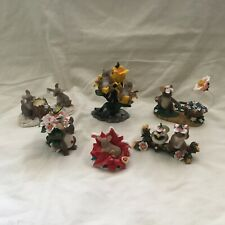 6 Charming Tails Fitz & Floyd Mouse Spring Friendship Flowers Figurines Set