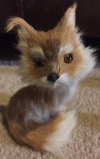 Faux Fur Red Fox Figure